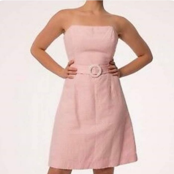 Lilly Pulitzer Dresses & Skirts - {0} Lilly Pulitzer Pink and White Polka Dot Dress